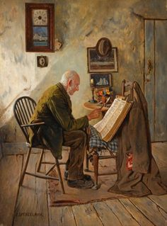 Charles Spencelayh (1865-1958) The Morning Chapter