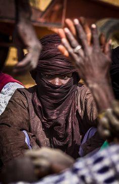 Africa | Tuareg man at the Gorom Gorom market. Northern Burkina Faso | ©Anthony Pappone