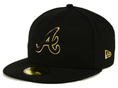 Bold and beautiful, this officially-licensed Atlanta Braves New Era MLB Black On Metallic Gold 59FIFTY Cap will have your friends asking where to get one for themselves! The high crown shows off bright stitching on your favorite team logo.