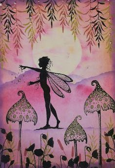 Lavinia Stamps Challenge Email Entries : Sacha Boyce-Grace - Challenge 6 June Lavinia Stamps Cards, Fairy Silhouette, Unicorns And Mermaids, Fairy Dust, Tampons, Art Journal Inspiration, Homemade Cards, Cardmaking, Decoupage