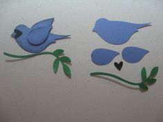 17 Best images about SU Bird Builder/Boho Blossoms Punch on . Paper Punch Art, Punch Art Cards, Blue Jay Bird, Craft Punches, Owl Punch, Stamping Up Cards, Bird Cards, Card Making Techniques, Animal Cards