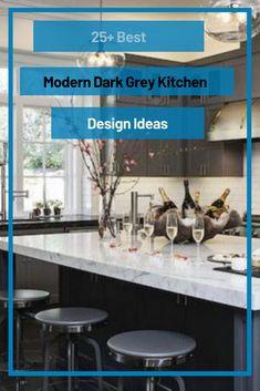 25+ Best Modern Dark Grey Kitchen Design Ideas #greykitchendesignideas Dark Grey Kitchen, Grey Kitchen Designs, Design Ideas, Modern, Table, Furniture, Home Decor, Trendy Tree, Decoration Home