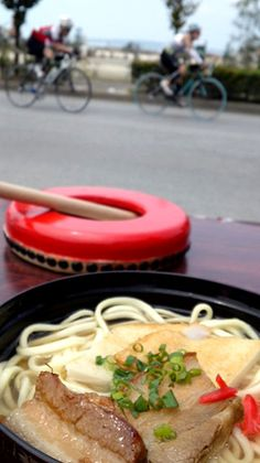 "Okinawan noodle ""Miyako-SOBA"" and Triathlon, in Miyako-jima Island, Okinawa, Japan."