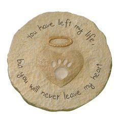 Pet Memorial Rock Garden Plaque Loved Dog Cat Tombstone Cemetery Grave Statue #PetMemorialRock