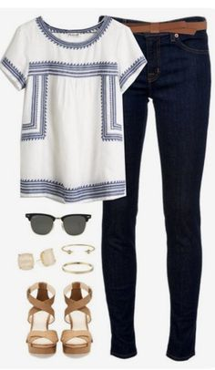 Stitch fix spring & summer fashion trends Summer Work Outfits, Spring Outfits, Casual Summer, Casual Winter, Summer Office, Late Summer, Winter Outfits, Everyday Casual Outfits, Summer Blues