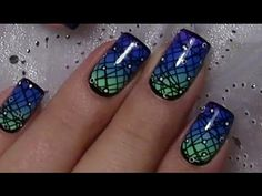Science Fiction Galaxy Nageldesign / Stamping Nail Art Design Tutorial
