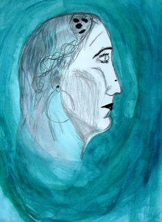 Módulo III. RETRATOS.  Dibujar evitando interpretar, imaginar, captando lo que se Ve. Dibujo de Camilo Rodríguez.