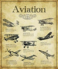 Aviation Guide Painting Print on Wrapped Canvas