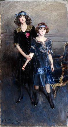 The Misses Muriel and Consuelo Vanderbilt,  Artist: Giovanni Boldini,  Date: 1913