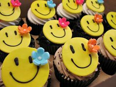 Cute Smiley Cupcakes