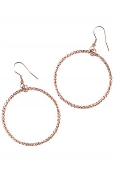 rose gold plated creole #earrings I designed for NEW ONE I NEWONE-SHOP.COM