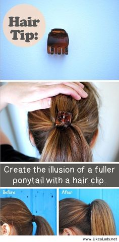 Hair tip for ponytail.