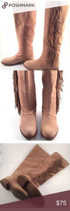 4167991be Sam Edelman CamelSuede Josephine Fringe Boots Sz6 Sam Edelman  275 Camel  Suede Leather Josephine Fringe Riding