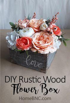 DIY Rustic Wood Flower Box