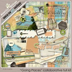 GOING PLACES full kit :: Full & Mini Kits :: Memory Scraps