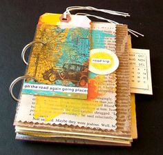 Mixed Media Travel/ Vacation Art Journal by ColorHappyCreations, $ 38.00