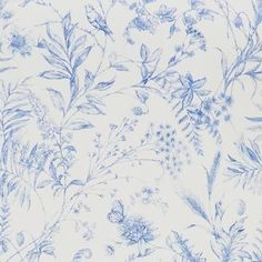 Buy Fern Toile in Bluebell, a feature wallpaper from Ralph Lauren, featured in the Signature Florals collection from Fashion Wallpaper. Free delivery on all UK orders. Fern Wallpaper, Feature Wallpaper, Flower Wallpaper, Ralph Lauren, Fashion Wallpaper, Country Scenes, Blue Wallpapers, Designer Wallpaper, Drawing Room