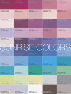 """SUNRISE palette: More Alive With Color: """"If you are a Sunrise Colortime your best Signature Colors are a Frost Gray suit with a Bonnie Blue shirt."""" - eisemancolorblog. Another pinner identifies this as Soft Summer."""