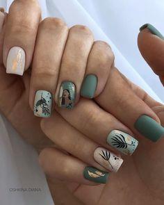 Minimalist Nails, Square Nail Designs, Nail Art Designs, Nails Design, Picasso Nails, Cute Nails For Fall, Fall Nails, Spring Nails, Summer Nails