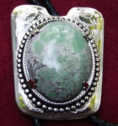 Variscite Bola/Bolo  Beautiful Rich Green & by JewelryArtistry