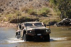Hawkei undergoes water-fording tests