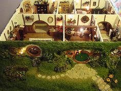 Hobbit town Dollhouse! This is what was missing from my childhood. Good gracious!