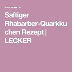 Saftiger Rhabarber-Quarkkuchen Rezept   LECKER
