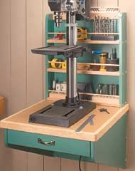 Wall-Mounted Drill Press Shelf - Shopnotes #64, p.6