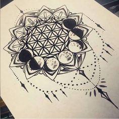 flower of Life – Mandala Tattoos Trendy Tattoos, New Tattoos, Body Art Tattoos, Sleeve Tattoos, Cool Tattoos, Tatoos, Mandala Tattoo Design, Tattoo Designs, Mandala Sternum Tattoo