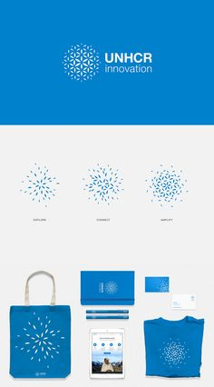 The primary logo visualizes UNHCR Innovation's role in enabling an engaged… Corporate Identity Design, Brand Identity Design, Branding Design, Collaborative Solutions, Graphic Pattern, Global Logo, Network Organization, Future Logo, Dynamic Logo