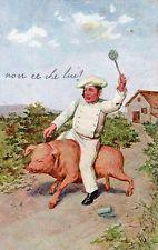 Maialini Piglets Cochons - Cuoco Cook - Viaggiata 1918 - FU591