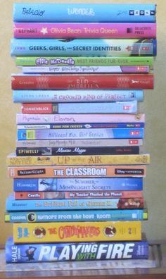 z Middle Grade Book Pile