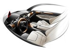 Mercedes-Benz M-Class Interior Design Sketch