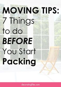 pleadtrus Moving Tips: 7 Things To Do Before You Start Packing Moving House Tips, Moving Home, Moving Day, Moving Tips, Moving Hacks, Packing To Move, Packing Tips, Moving Organisation, Move On Up