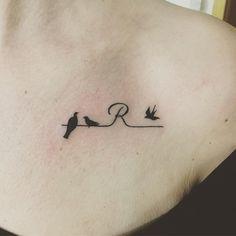 Black Ink Tattoos, Up Tattoos, Body Art Tattoos, Arrow Tattoos, Tattos, Letter R Tattoo, Braille Tattoo, Henna Tattoo Designs Simple, Tattoo Designs For Women