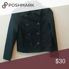 New York & Company Denim Peacoat New York & Company dark denim peacoat. Size small New York & Company Jackets & Coats Pea Coats