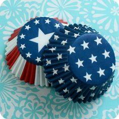 Cup Cake Liners for the 4th