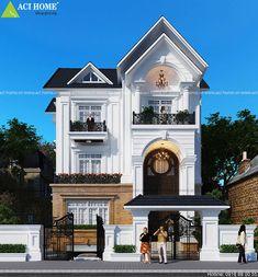Tổng hợp gần 100 mẫu thiết kế biệt thự cổ điển siêu Đẹp Home Designs Exterior, Classic House Exterior, Kerala, Villa, House Design, Architecture, House Styles, Building, Dream Mansion