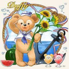 Drawing Cartoon Characters, Cartoon Drawings, Duffy The Disney Bear, Emoji, Cute Pictures, Adventure, Illustration, Anime, Friends