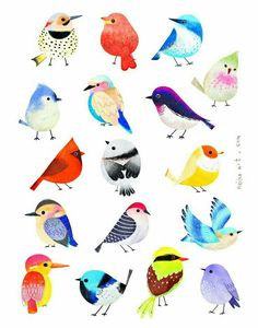 neiko ng illustration bottom left pink and yellow birdBird illustration- textile design and surface pattern inspirationVery Charlie Harper.Bernstein & Andriulli is a premier creative artist management agency & media consultancy.Water colors or pastels Vogel Illustration, Vintage Bird Illustration, Feather Illustration, Illustration Animals, Inspiration Art, Bird Drawings, Drawing Birds, Art Plastique, Illustrators