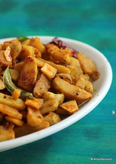 Koorka Mezhukupuratti(Upperi) | Chinese Potato Stir Fry(Step by Step Pics)