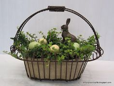 Easter planter centerpiece.
