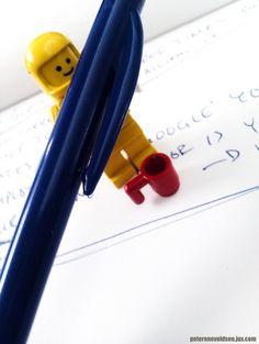 Creative writing LEGO astronaut.
