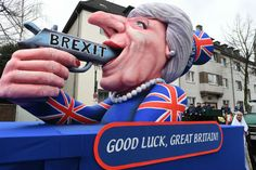 But Trump wasn't the only leader to invite the scorn of the Karneval Narren. Theresa May, Prime Minister of United Kingdom, was shown pointing a pistol through her own teeth inscribed with the word Brexit.IN PICS: German Carnival floats show Trump no mercy - The Local