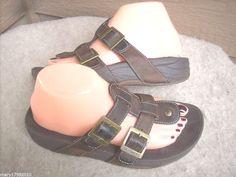 Skechers tone Ups women sandals 7 Brown Thong Leather #SKECHERS #PlatformsWedges #Casual