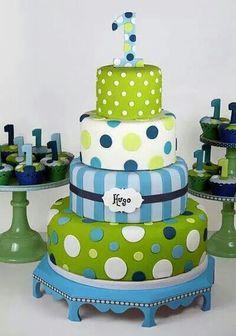 Light blue, white  &green