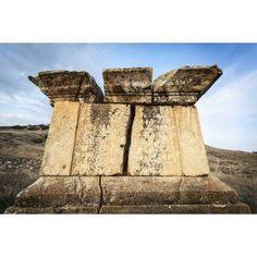 Ruins of graves Hierapolis Pamukkale Turkey Canvas Art - Reynold Mainse Design Pics (19 x 12)