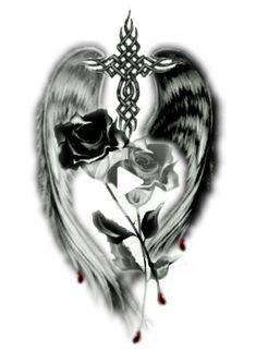 Simple Tribal Tattoos, Tribal Rose Tattoos, Blue Tattoo, Cool Half Sleeve Tattoos, Pin Up Tattoos, Body Art Tattoos, Warrior Tattoo Sleeve, Warrior Tattoos, Angel Tattoo Designs