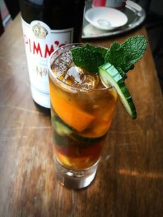 The famed Pimm's Cup is the official drink of Wimbeldon and employs Pimm's No. a gin-based aperitif originally created and sold as a tonic in the S Cup, Beverages, Drinks, The Championship, Classic Cocktails, Summer Treats, Moscow Mule Mugs, Craft Beer, Catering