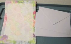 Muted Floral Bouquet Paper & Lavender Envelopes Stationery 24 sheets Rose Tulip